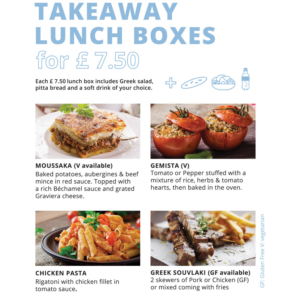 Takeaway Lunch Boxes for 7.5£