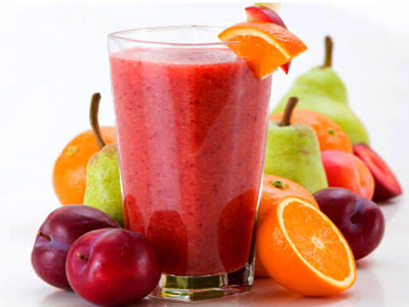 Fresh mixed fruits juice