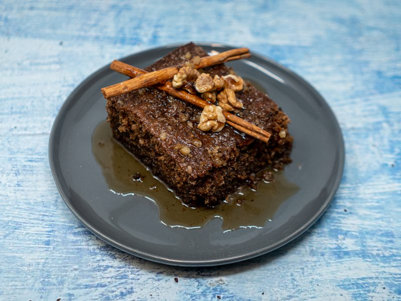 Nut Cake in Syrup
