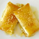 Baked Feta Cheese with honey and sesame